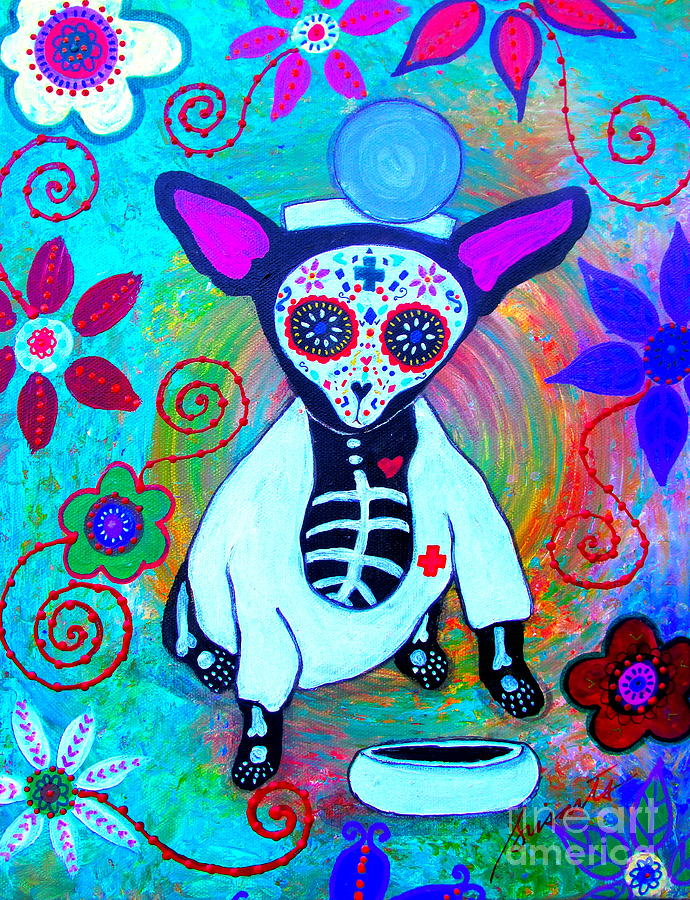 Chihuahua Doctor Painting