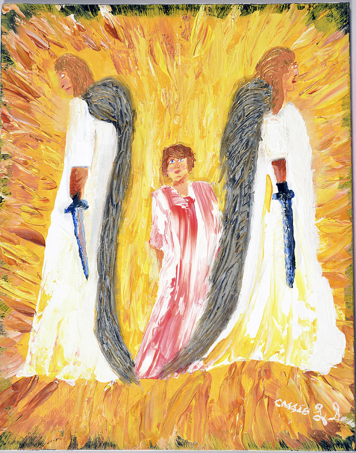 Child Being Escorted Into Heaven Painting  - Child Being Escorted Into Heaven Fine Art Print