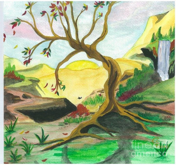 Landscape Painting - Child Of Earth by Jeanel Walker