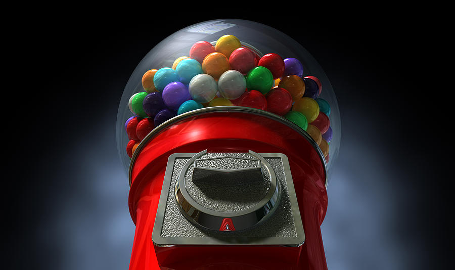 Machine Digital Art - Childs View Of The Gumball Machine by Allan Swart