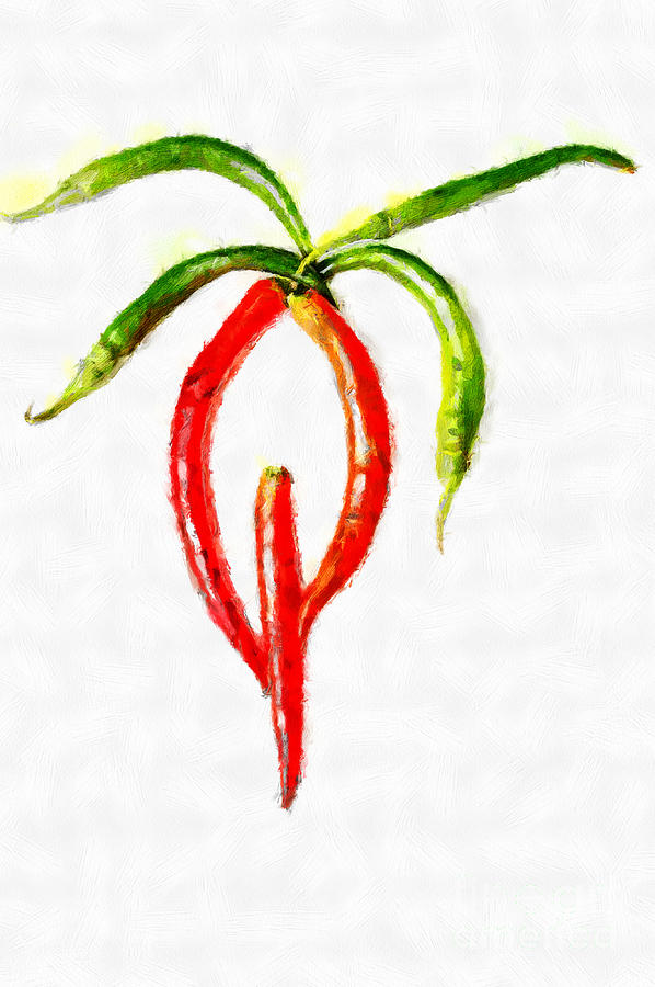 Painting Painting - Chilli Palm Painting by Magomed Magomedagaev