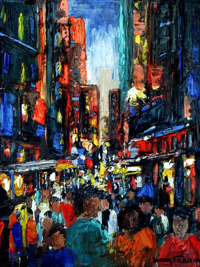 China Town Painting  - China Town Fine Art Print
