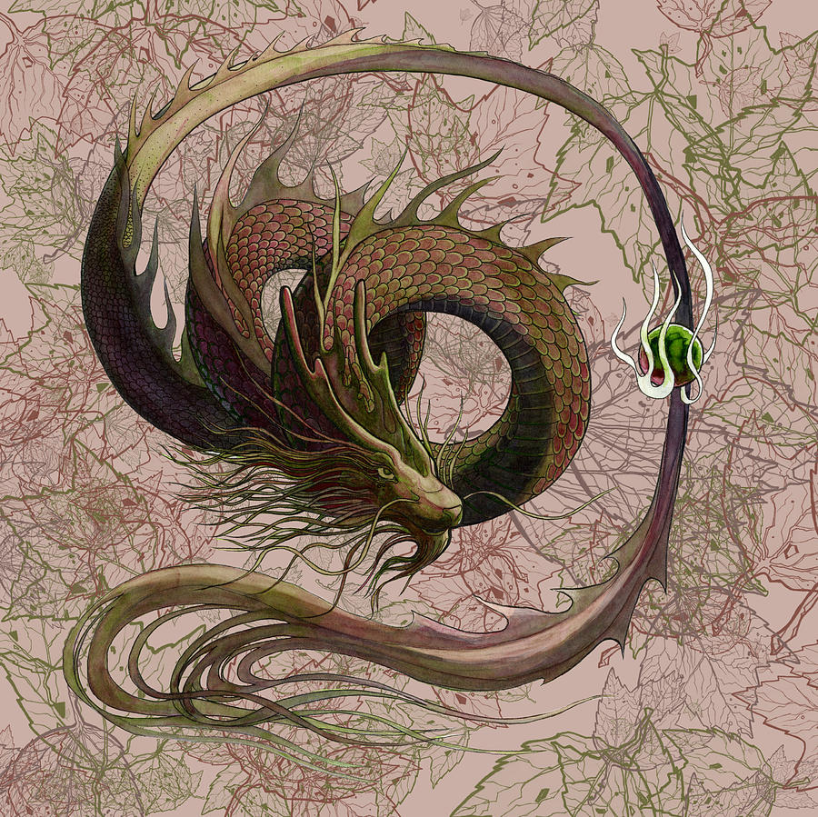 Chinese Dragon Painting  - Chinese Dragon Fine Art Print