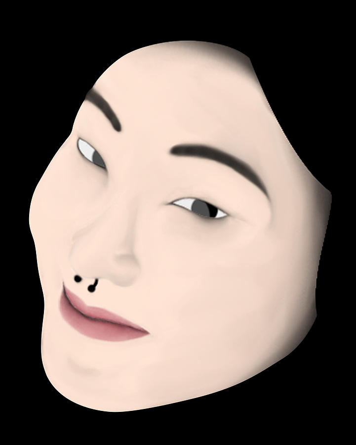 Girl Digital Art - Chinese Girl by Sara Ponte