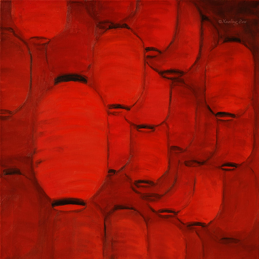 Chinese Lanterns Painting  - Chinese Lanterns Fine Art Print