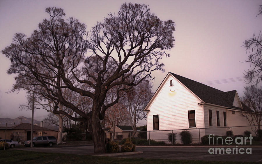Chino Old School House At Dusk- 03 Photograph  - Chino Old School House At Dusk- 03 Fine Art Print