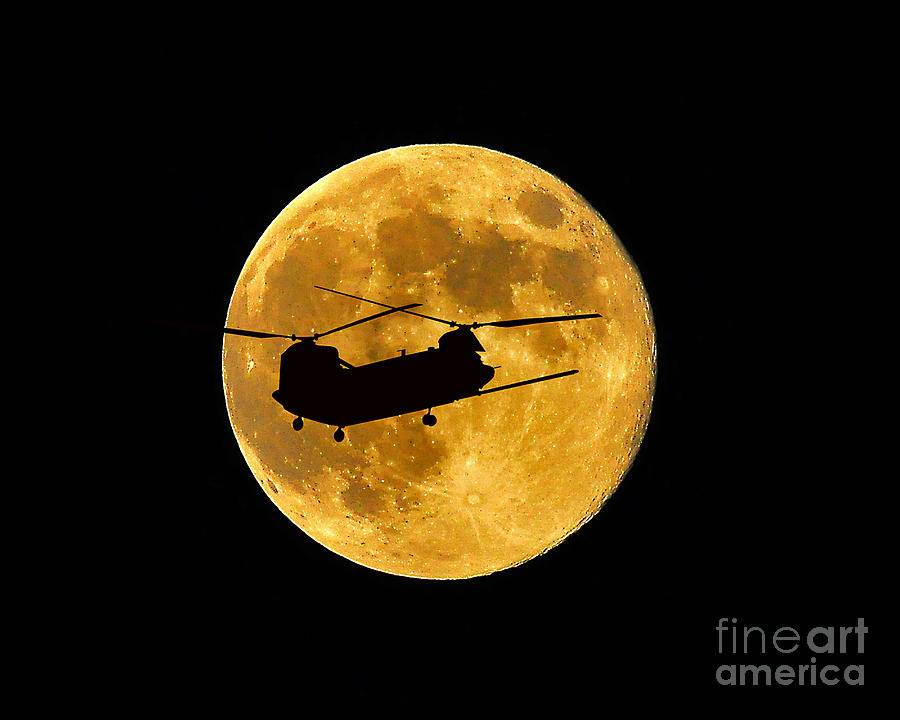 Chinook Moon Color Photograph
