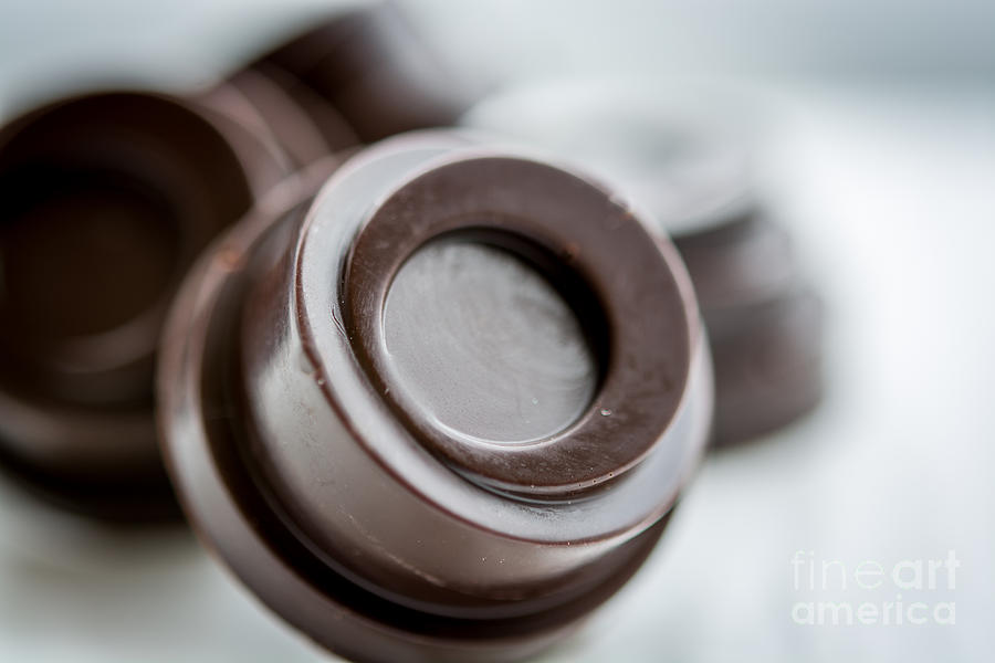 Chocolate Photograph - Chocolate Button - By Sabine Edrissi by Sabine Edrissi