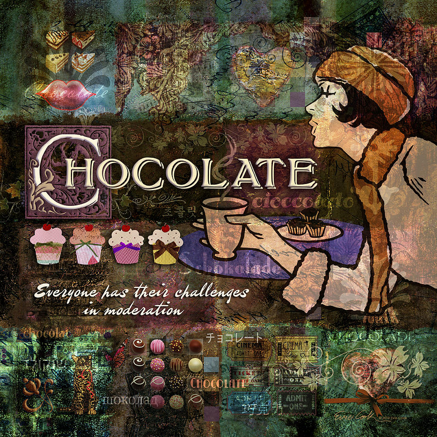 Chocolate Digital Art  - Chocolate Fine Art Print