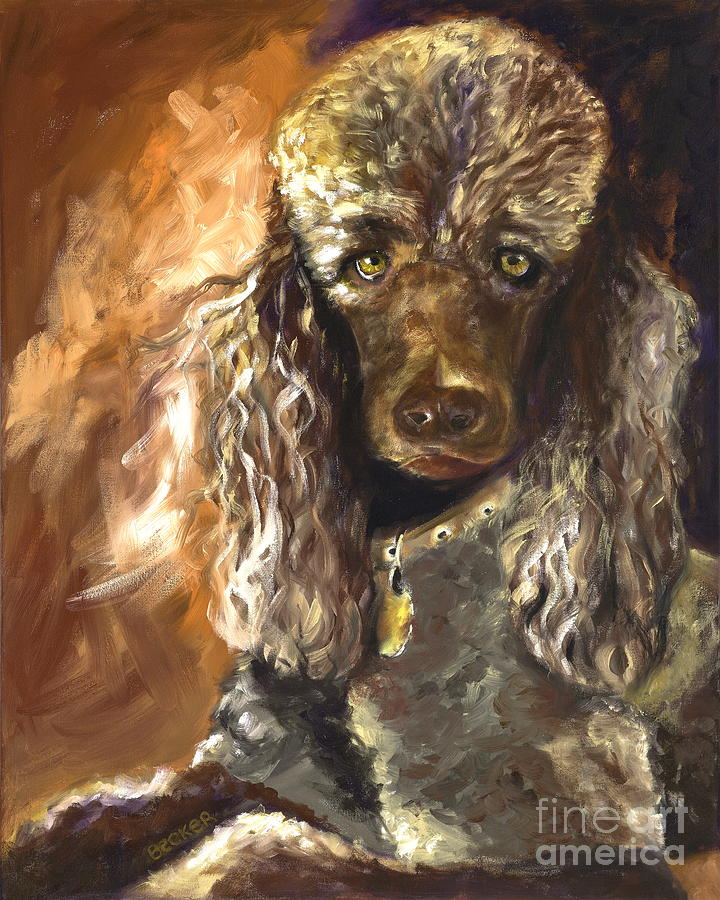 Dogs Painting - Chocolate Poodle by Susan A Becker