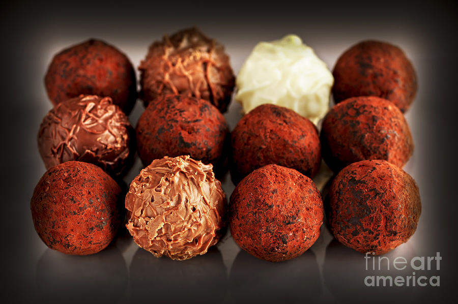 Chocolate Truffles Photograph