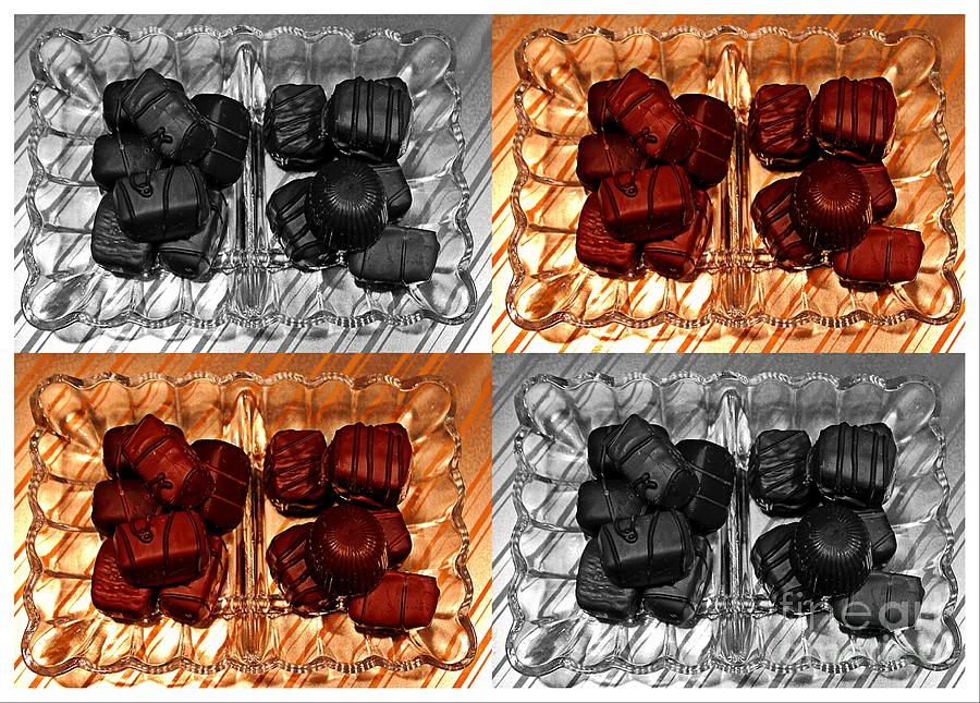 Chocolates Ceramic Art  - Chocolates Fine Art Print