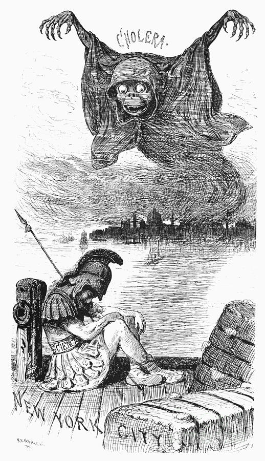 Cholera Cartoon, 1883 Photograph
