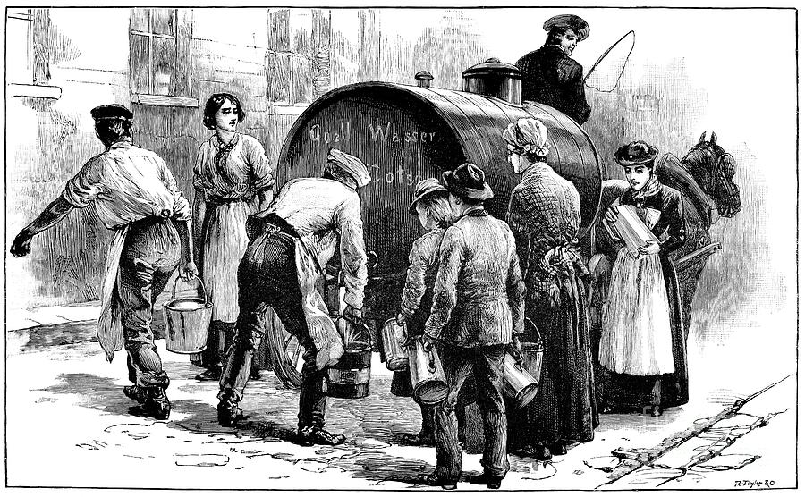 Cholera Epidemic 19th Century Photograph By Spl