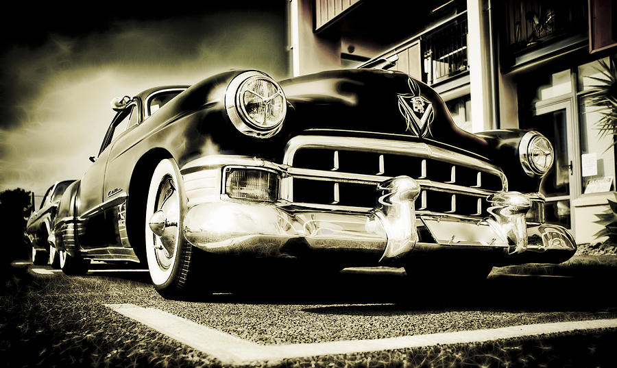 Chopped Cadillac Coupe Photograph  - Chopped Cadillac Coupe Fine Art Print
