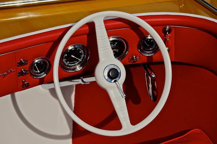 Chris Craft Steering Wheel is a photograph by Steven Lapkin which was ...
