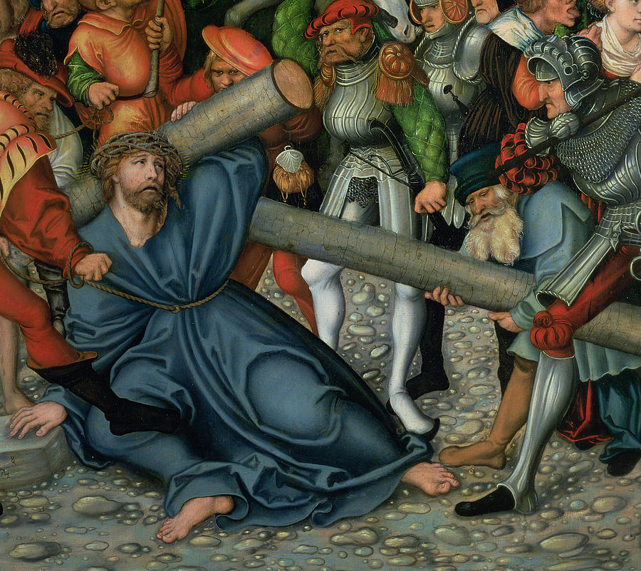 Christ Carrying The Cross Painting by Lucas Cranach