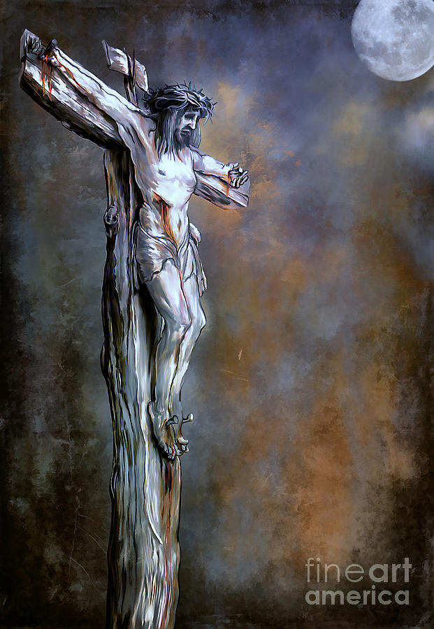 Painting - Christ On The Cross  by Andrzej Szczerski