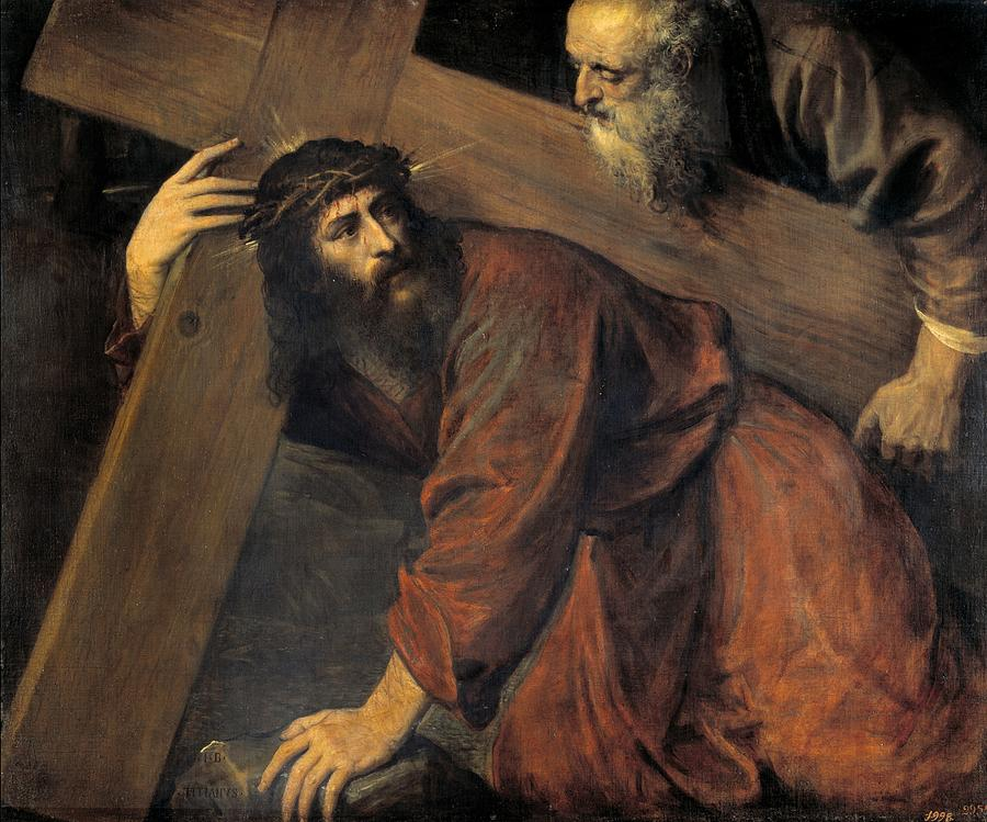 Christ On The Way To Calvary Painting By Titian