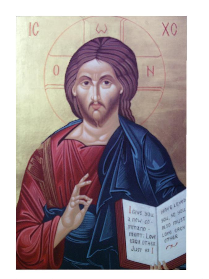 Christ Painting - Christ Pantocrator-byzantine Icon by Janeta Todorova