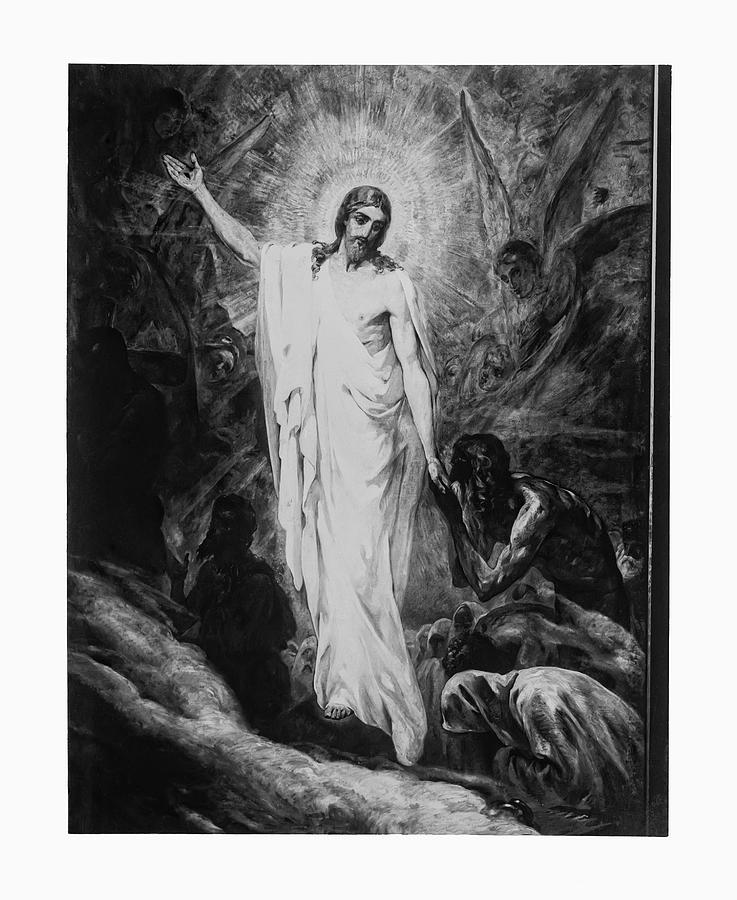 Christ Preaching To The Spirits In Prison C. 1910 Photograph  - Christ Preaching To The Spirits In Prison C. 1910 Fine Art Print