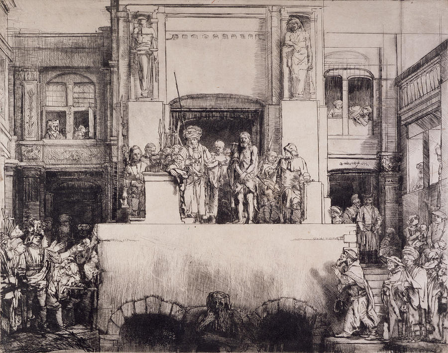Christ Presented To The People, 1655 Drawing
