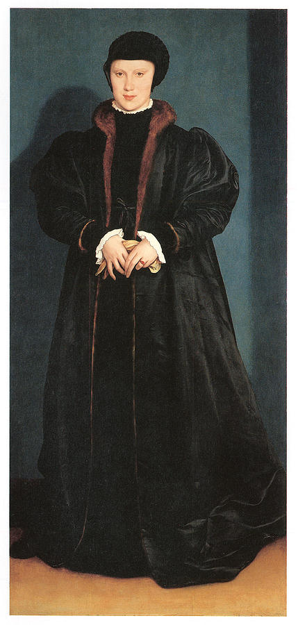 Hans Holbein The Younger Painting - Christina Of Denmark Duchess Of Milan by Hans Holbein the Younger