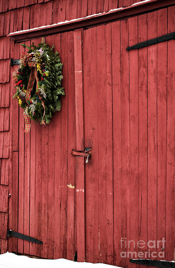 Christmas Barn Photograph