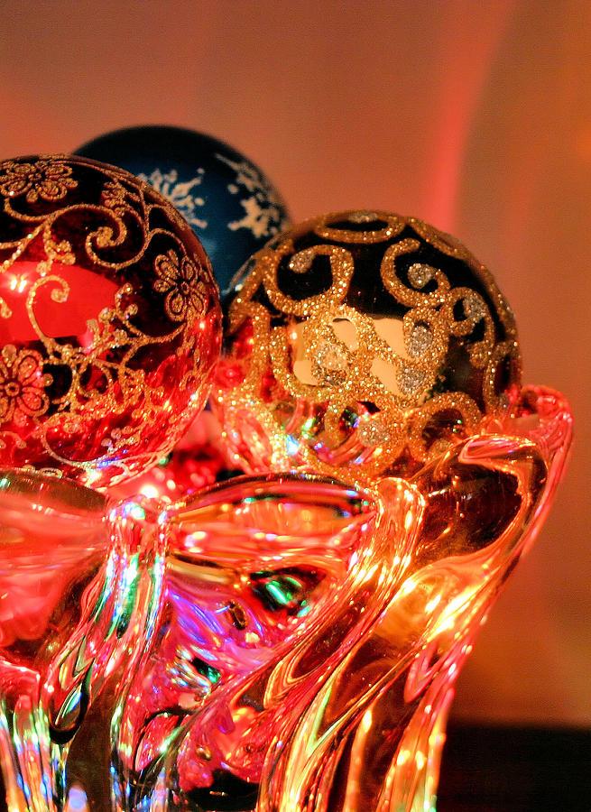 Christmas Photograph - Christmas Bulbs by Kristin Elmquist