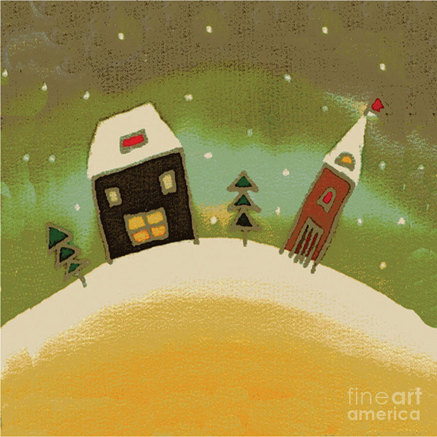 Illustration Tapestry - Textile - Christmas Card by Yana Vergasova