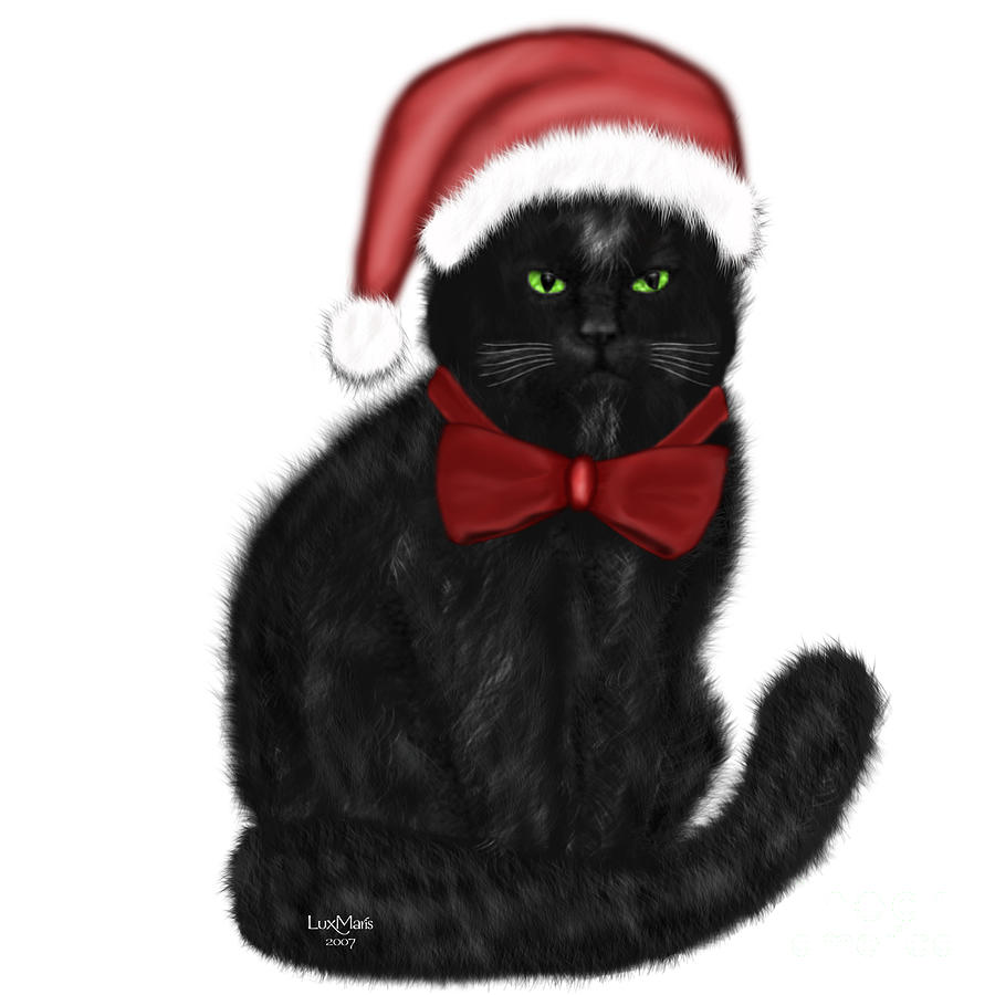Christmas Cat Isabeau Painting By Renate Janssen