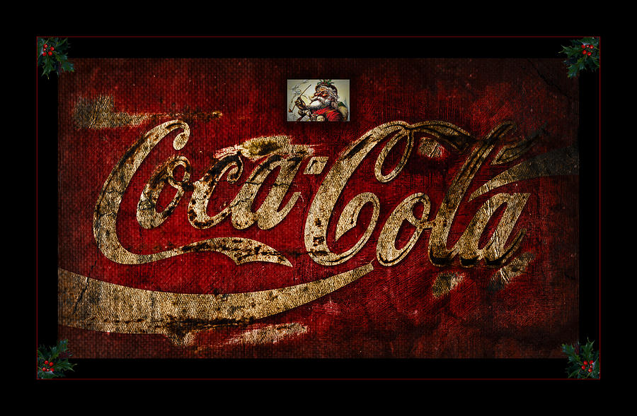 Christmas Coca Cola 1881 Santa Photograph