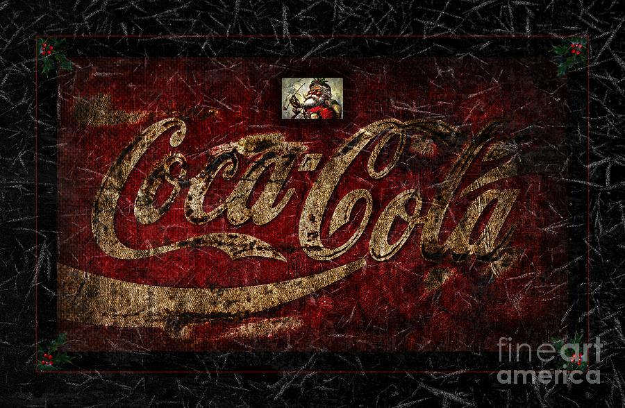 Coca Cola Photograph - Christmas Coca Cola Ice Crystals 1881 Santa by ...