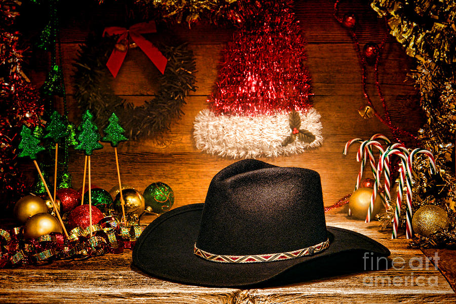 Christmas Cowboy Hat Photograph  - Christmas Cowboy Hat Fine Art Print