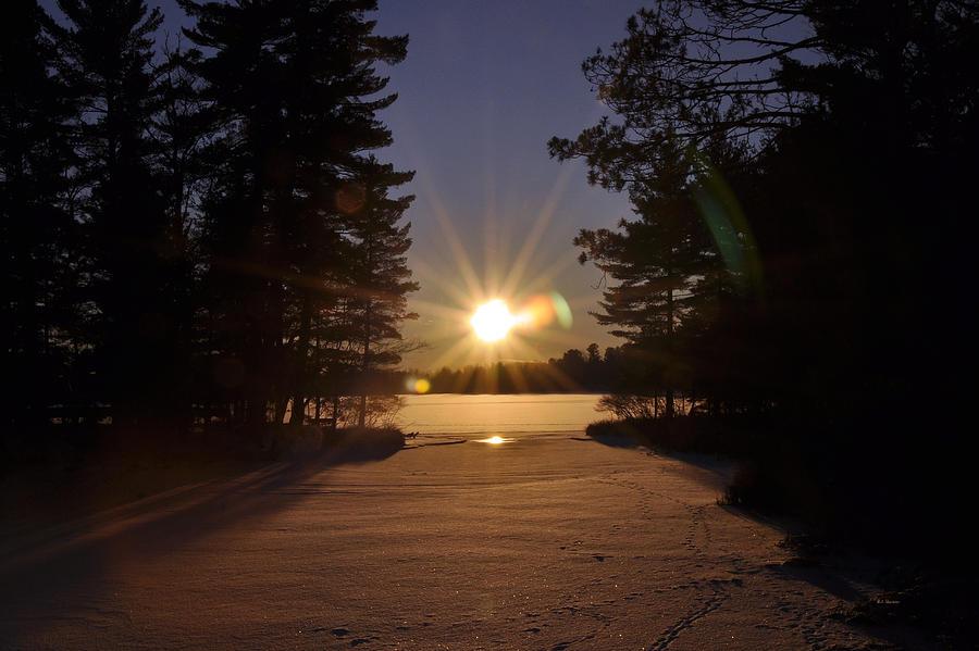 Landscape Photograph - Christmas Day Sunset by RJ Martens
