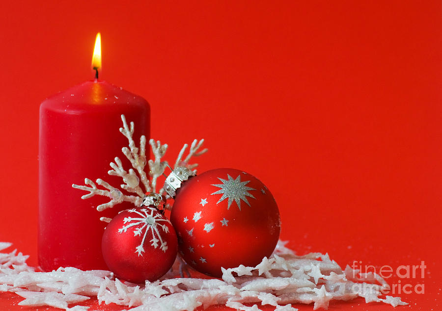 Christmas Decoration Background Photograph  - Christmas Decoration Background Fine Art Print
