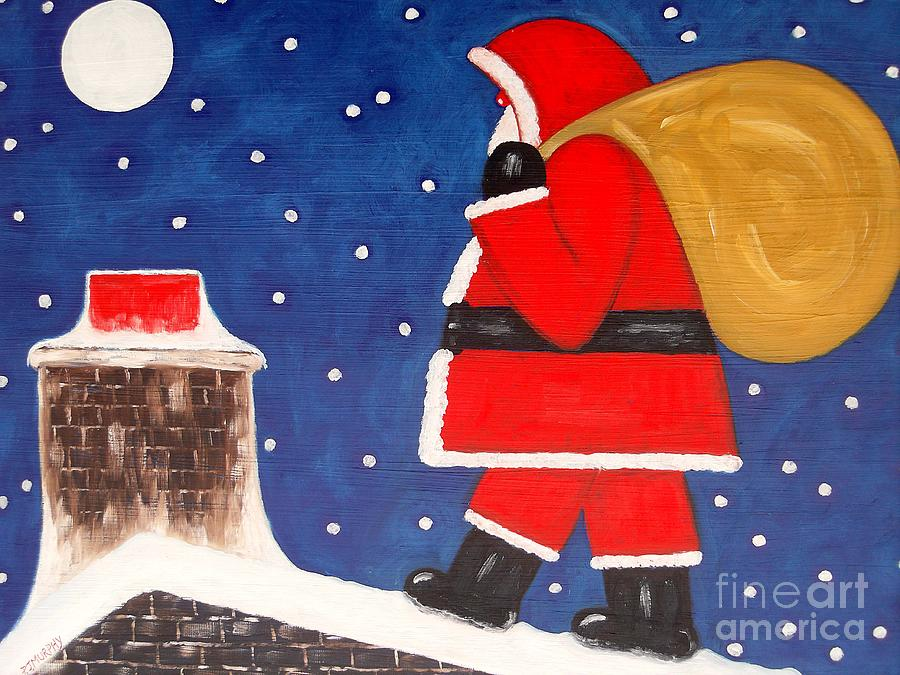 Christmas Eve Painting  - Christmas Eve Fine Art Print