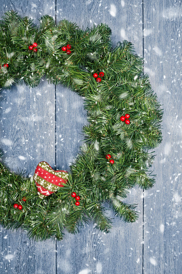 Christmas Garland Photograph  - Christmas Garland Fine Art Print