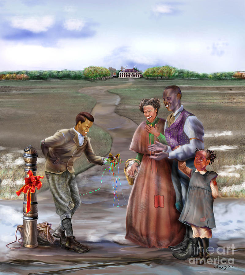 Antebellum Painting - Christmas Gift - An Antebellum Christmas by Reggie Duffie