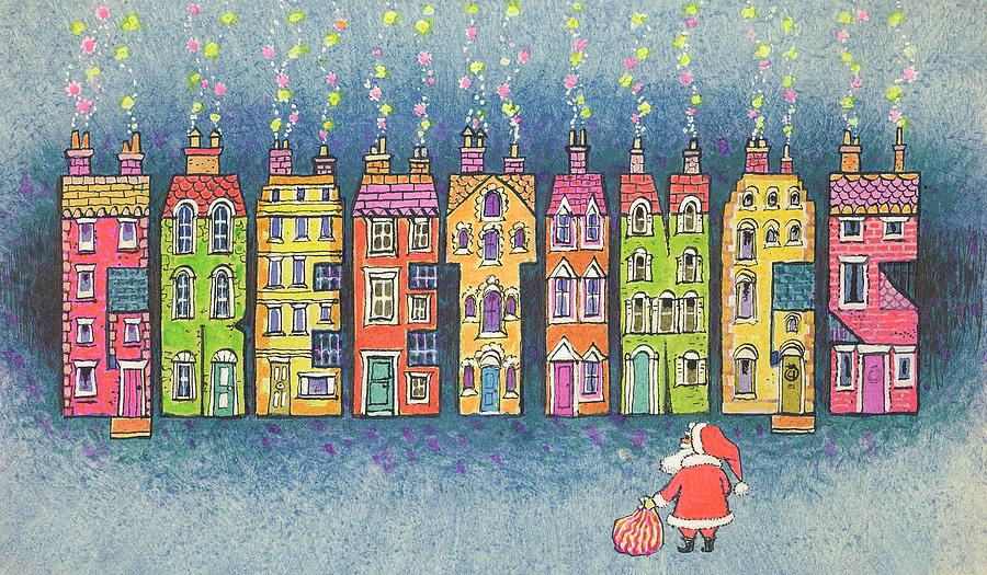 Christmas Greetings  Painting  - Christmas Greetings  Fine Art Print
