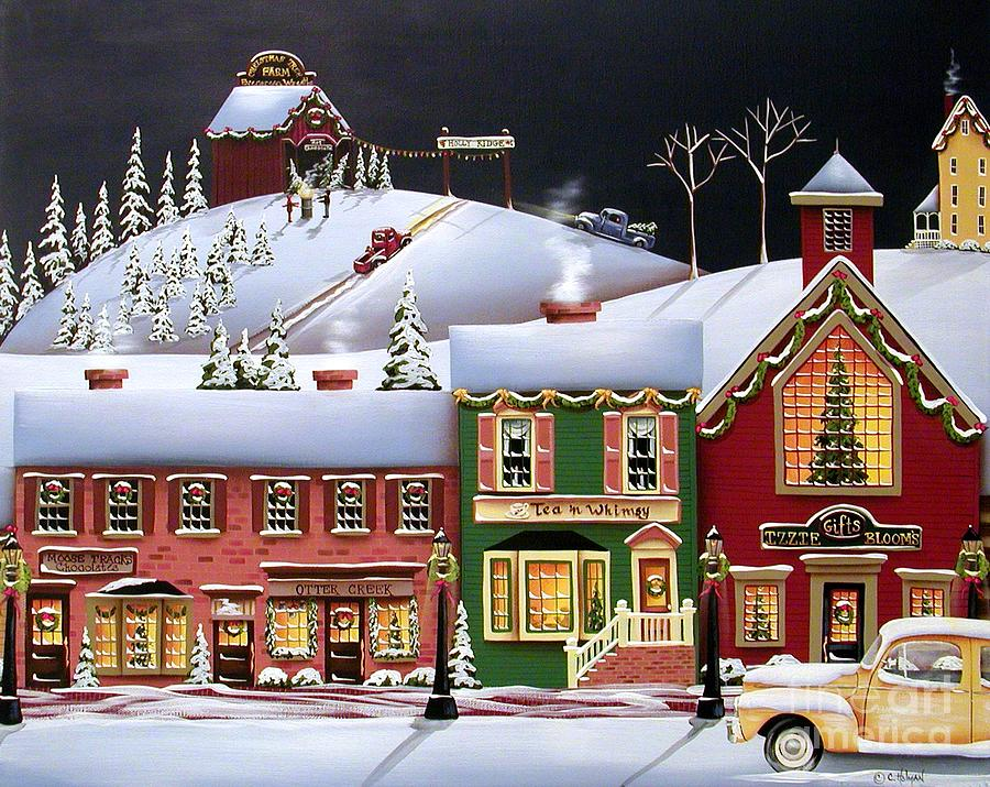 Christmas In Holly Ridge Painting