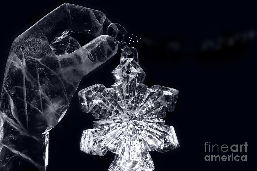 Christmas In Ice Photograph