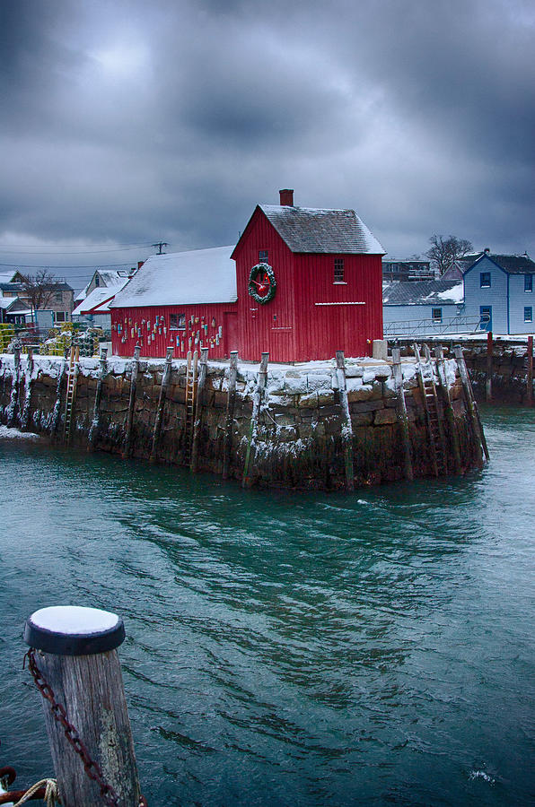 Christmas In Rockport Massachusetts Photograph
