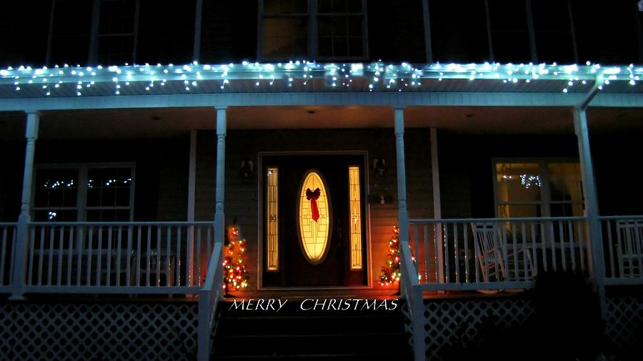 Christmas Night Photograph  - Christmas Night Fine Art Print