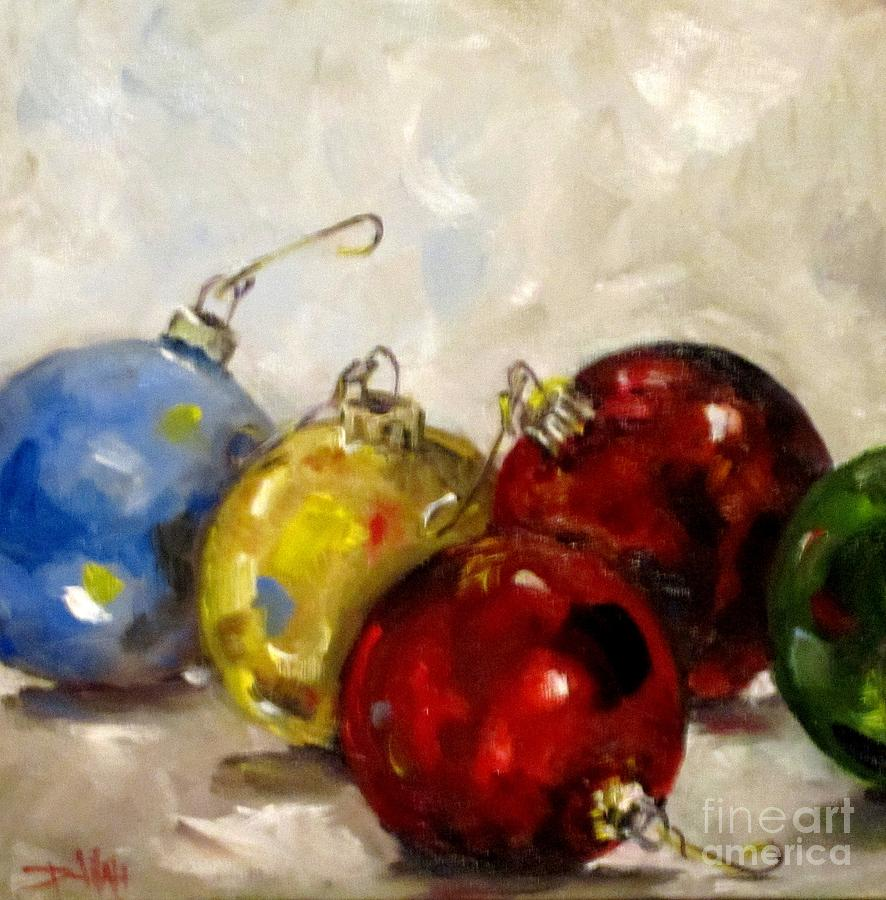 Christmas ornaments painting by delilah smith for Christmas images paintings