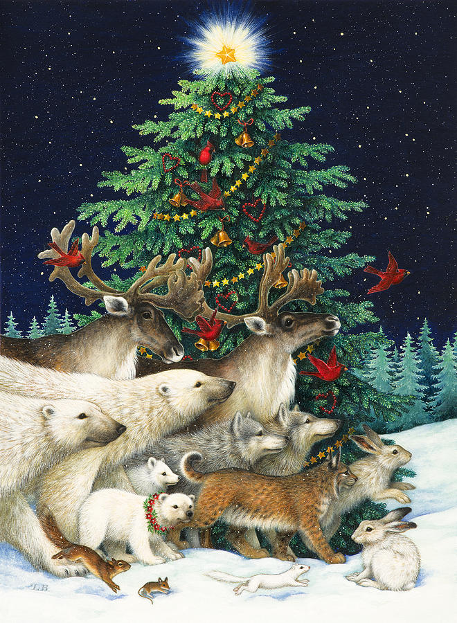 Christmas Parade Painting  - Christmas Parade Fine Art Print