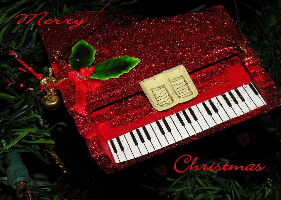 Christmas Piano Card Photograph By Rosalie Scanlon