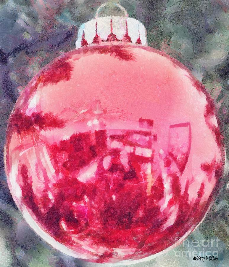 Christmas Reflected Painting  - Christmas Reflected Fine Art Print