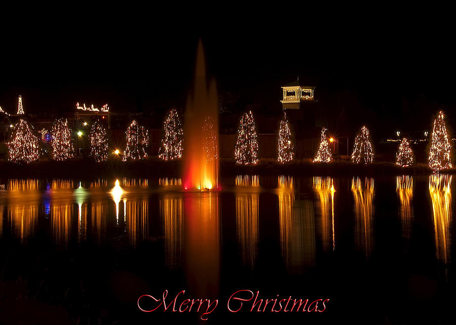 Christmas reflection card digital art by chris