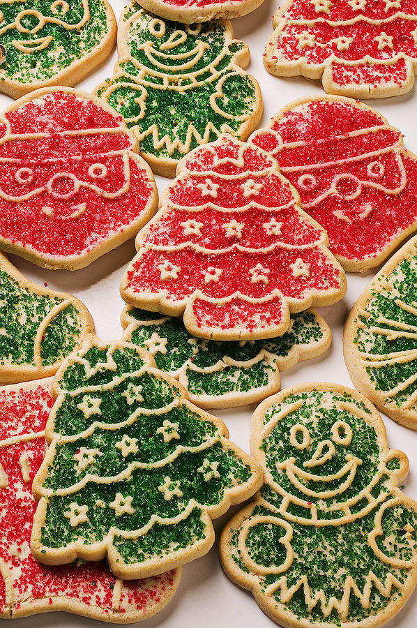 Christmas Sugar Cookies Photograph  - Christmas Sugar Cookies Fine Art Print